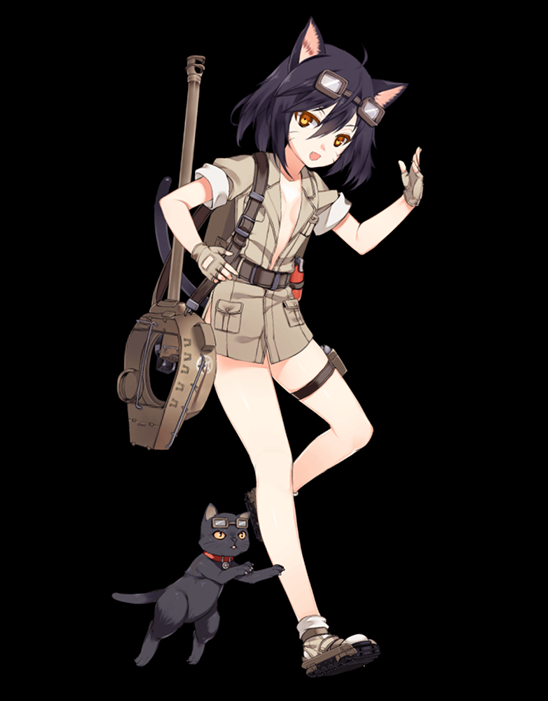 M18 Hellcat illustration captured from her Live2D